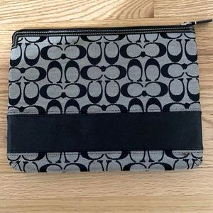 Coach Signature Stripe iPad Case